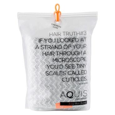 Long Hair Towel Lisse Luxe Chevron